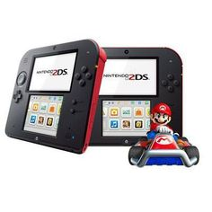Nintendo 2ds Crims Red With Mario
