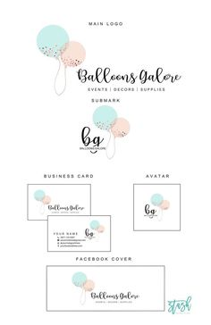 excited to share the latest addition to my etsy shop balloons logo design balloons and confetti logo party planner logo event planner logo baby boutique logo e - The world's most private search engine Boutique Logo, Baby Boutique, Studio Logo, Graphisches Design, Graphic Design, Vintage Carpet, Balloon Logo, Wordpress Theme, Planner Brands