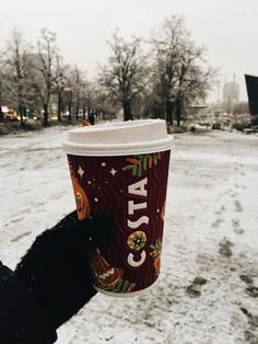 Costa Coffee on a winter walk Winter Walk, Winter Snow, Beach Poses By Yourself, Costa Coffee, Warsaw Poland, Beautiful Places, City, Inspiration, Biblical Inspiration
