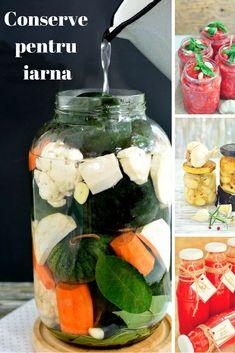 Idei simple si retete gustoase pentru o camara imbelsugata. Cooking Ideas, Romania, Preserves, Pickles, Drinks, Face, Honey, Canning, Pork