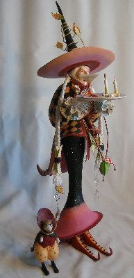Krinkles by Patience Brewster - Harlequin Witch Figure