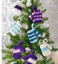 CROCHET MITTENS ORNAMENT – Only New Crochet Patterns