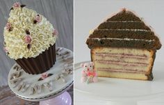 Vullen giant cupcake