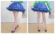 The making of a Glass Angel Costume, Part Three - Making a ruffly [cupcake shaped] petticoat + skirt