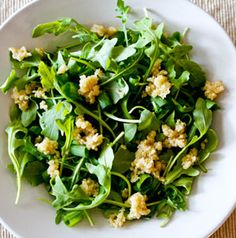 Don't let the looks of Quinoa and Arugula Salad fool you. The pepper greens, sharp green onions and lemon vinaigrette combine for a one-two flavor punch. It's perfect after chilling a few hours, so you can make it and take it anywhere.