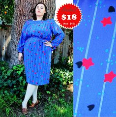 CLEARANCE  Plus Size  Vintage Stars & Jelly Fish by TheCurvyElle, $18.00