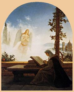 Dante y Beatriz Carl Gustav Carus, Dante Alighieri, Romanticism, Christian Art, Religious Art, Ciel, Deities, Worship, Mystic