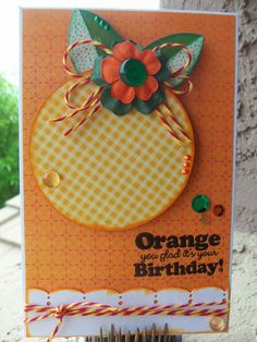 DoubleClick - AKA Abusybee: Orange You Glad it's your Birthday!! Scrappy Moms Stamp Release!