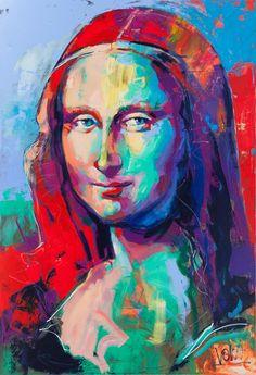The new Mona Lisa [Voka] (Gioconda / Mona Lisa) Abstract Portrait, Portrait Art, Portraits, Acrylic Portrait Painting, Abstract Print, Voka Art, Mona Lisa Parody, Arte Pop, Italian Artist