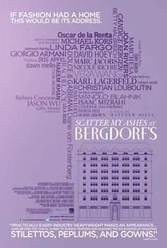 Scatter My Ashes at Bergdorf's, the official poster!