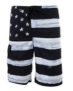 565a520953e US Apparel Men s American Flag Inspired Board Shorts (M
