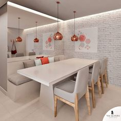 Home Decoration With Lights Dining Room Design, Interior Design Living Room, Living Room Decor, Dinner Room, Modern Kitchen Design, Home Decor Kitchen, House Rooms, House Design, Sweet