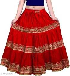 Ethnic Bottomwear - Skirts Stylish Women's Skirt Fabric: Cotton Size: Up To 28 in To 36 in (Free Size) Length: Up To 40 in Type: Stitched Description: It Has 1 Piece Of Women's Skirt  Work: Printed Country of Origin: India Sizes Available: Free Size, 34, 36, 38, 40, 42, 44   Catalog Rating: ★4.1 (1781)  Catalog Name: Graceful Stylish Women's Skirts Vol 3 CatalogID_682105 C74-SC1013 Code: 523-4696266-867