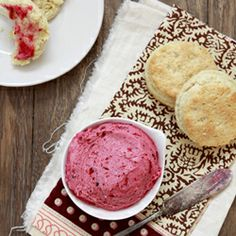 Whipped Cranberry Butter...perfect for rolls on Thanksgiving!