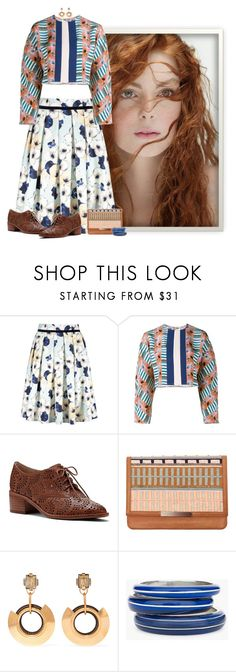 """""""beautiful start to the week"""" by niteowlgirl ❤ liked on Polyvore featuring Tata Naka, Louise et Cie, Lizzie Fortunato, Marni and Chico's"""