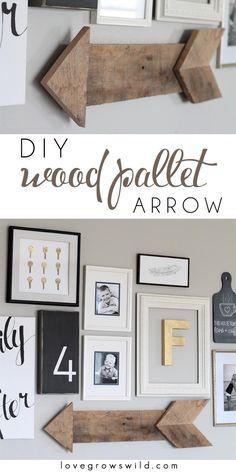 DIY Tutorial: DIY Home Decor / DIY Wood Pallet Arrow - Bead&Cord