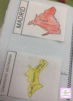 La mademoiselle du FLE: Ciencias Sociales: Las Comunidades Autónomas Science, Books, Socialism, Maps, Note Cards, Stencils, Social Science, Storage, Live