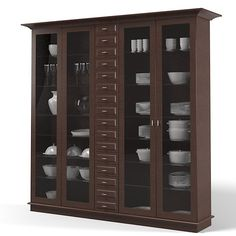 glass cupboard modern - Google Search