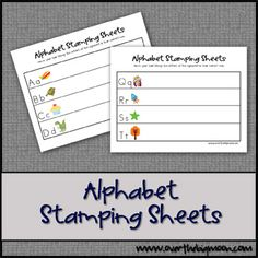 alphabet stamping sheets download