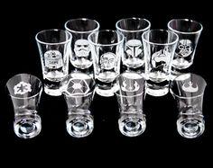 Star Wars themed Shot glasses. Bespoke engraving.