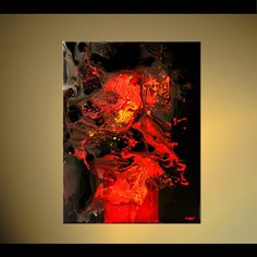 abstract painting red and black tones
