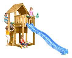 Simple ISIDOR Picodo Spielturm Kletterturm Rutsche Schaukeln Kletterwand Baumhaus ohne Schaukelanbau kinderzimmer spielturm Pinterest
