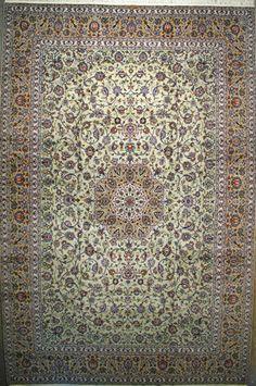 """Kashan Persian Rug, Buy Handmade Kashan Persian Rug 11' 8"""" x 17' 11"""", Authentic Persian Rug"""