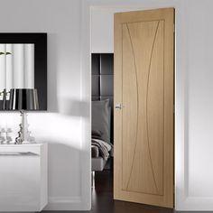 Bespoke Verona Oak Flush Door.  #internaldoors #bespokeoakdoors #interiorbespokedoors