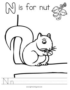 letter n coloring page 1 - N Coloring Pages 2
