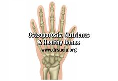 Osteoporosis, Nutrients and Healthy Bones - Dr. Bone Health, Bones, Vitamins, Healthy, Vitamin D, Health, Dice