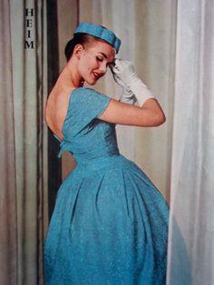 Dress fashion for La Femme Chic, 1956.