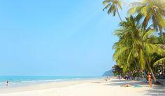 Koh Chang betyder elefantøen, fordi her er så mange elefanter. Men her er altså også lækre strande - det er jo Thailand!