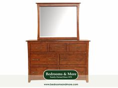 The Grant Park Dresser (with or without Mirror) by A-America embodies Transitional design style — a gorgeous and easy-to-work-with melding of Traditional and Contemporary design. Calm and minimalistic in style yet sturdily crafted in solid alder wood, the Grant Park has a refined and uncomplicated silhouette.  Select the Dresser only or the Dresser with Mirror. Pairs with the Grant Park Bed. We'll ship to you! Call us in Seattle at Bedrooms &  More: 1-888-297-8844