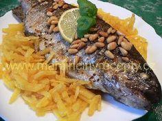 Pstruh s piniovými oříšky Steak, Fish, Pisces, Steaks