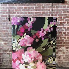 bloom v - xl — kimmy hogan Art Furniture, Abstract Flower Art, Flower Artists, Artwork Online, Arte Floral, Mural Art, Large Art, Large Canvas Art, Canvas Artwork