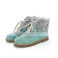 Again this year I'm wishing they made these in grey and in my size!!   Toumui Ankle Length Round Toe Lace-up Women Flat Boots - DinoDirect.com