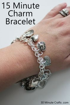 DIY Tutorial - Make a Heart Themed Charm Bracelet in Just 15 Minutes!