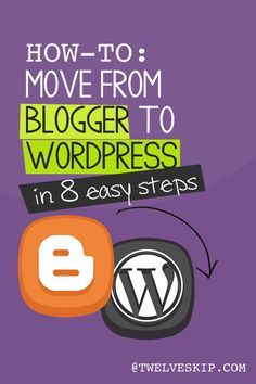 How to migrate from Blogger to Wordpress @ http://www.twelveskip.com/guide/blogging/1188/how-to-move-from-blogger-to-wordpress #blogger #wordpress