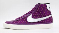 Vendita Nike Blazer Mid 09 ND Scarpe da Ginnastica Donne Argento Viola Punti Vendita