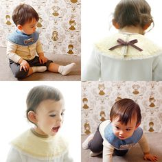 【MARLMARL(マールマール)】まあるいよだれかけDOLCE[img01] Baby Bibs, Baby Shower, Style, Bibs, Babyshower, Swag, Baby Showers, Outfits