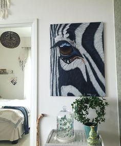 My zebra painting - my home.