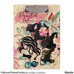 Clipboard Painted Ladies