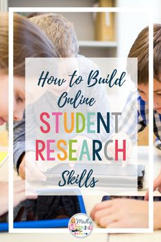Students use the internet in their daily lives all the - so teach them how! Click through to learn how you can teach your students online research skills that will stick with them for their entire lives. Research Skills, Study Skills, Life Skills, Importance Of Time Management, Online Programs, Questions, Videos, Internet, Students