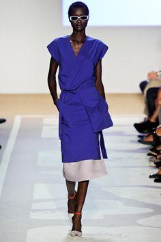 diane von furstenberg - love the tunic over the midi skirt