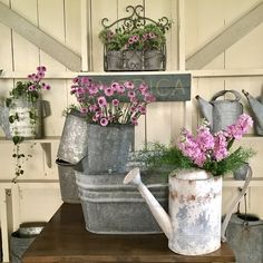 Create your very own She Shed! Check out all of the ideas in this potting shed! Smiths Country Home & Gardens Balcony Design, Patio Design, Garden Design, Diy Planters, Planter Pots, Brick Patterns Patio, Evergreen Vines, Sunflower Pictures, Backyard Patio