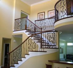 Staircase Iron Ballister | ... | Staircase Remodel | Custom Stairs | Iron Baluster | Wood Baluster