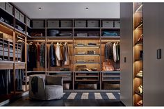 The Senzafine wardrobe system is a a modern modularity adaptable to any space.