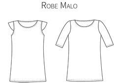La robe Malo est un mod�le simple et efficace, aux lignes �pur�es, � porter en toutes circonstances.Cette robe droite pr�sente deux variantes : la version A avec de jolis mancherons qui apportent une pointe de sophistication � la simplicit�, 7€