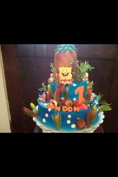 Spongebob cake I did for a birthday party