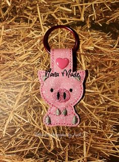 Wee Piggy Snap Tab by NanaMade4U on Etsy